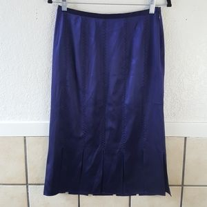 Vintage Doncaster 100% Silk fringed pencil skirt